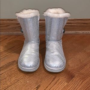 White Bailey Button Bling Uggs